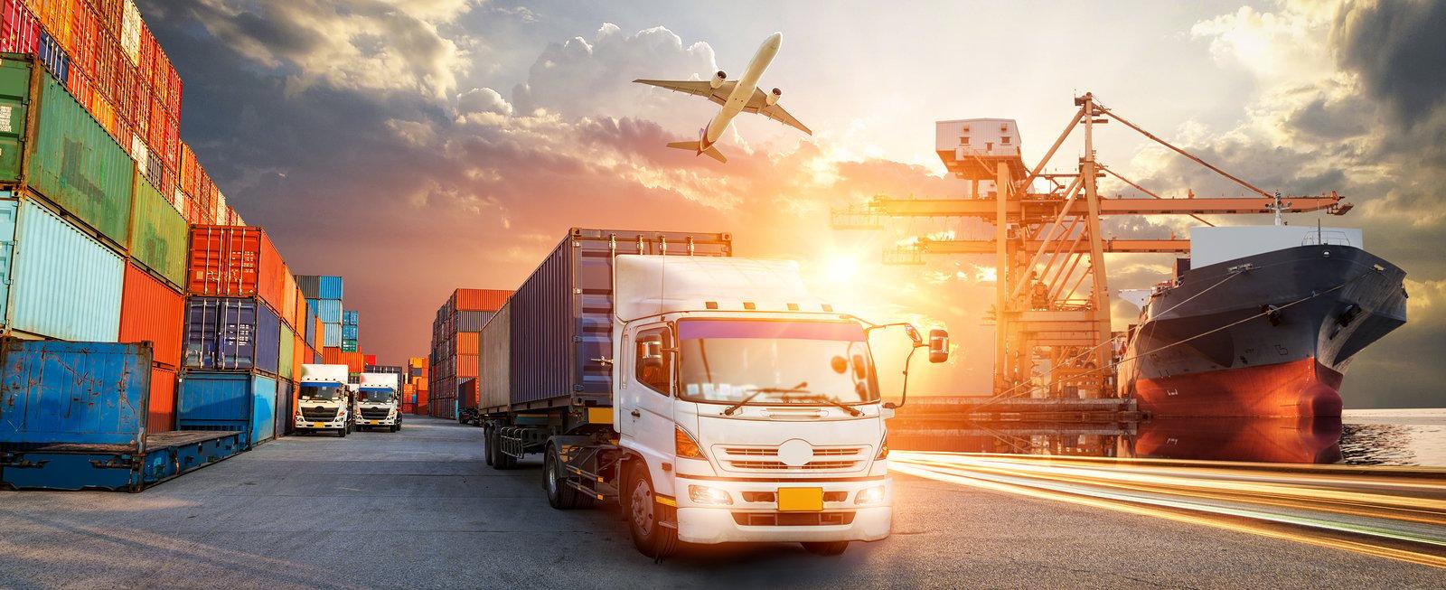 bigstock-Container-Truck-In-Ship-Port-F-330176833